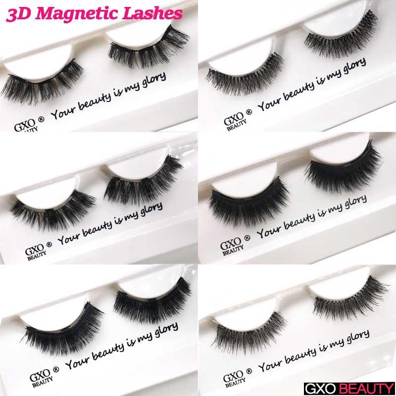 76762ca6a57 GXO BEAUTY Natural 3D Eyelashes Magnets False Eyelashes Crossing ...