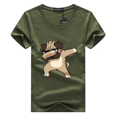 b693fd19a13 Топы Мужская футболка моды животных собаки смешно t рубашка хип-хоп  футболки для мужчин