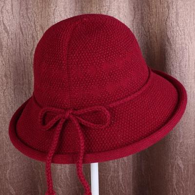 Women's Outdoor Wool Knitted Hat Crochet Warm Winter Cap