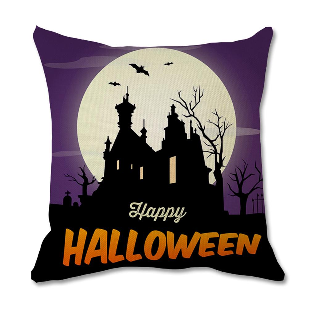 Halloween Decorative Throw Pillow Covers Natural Linen Pillowcase For Sofa Home Decor Buy At A Low Prices On Joom E Commerce Platform
