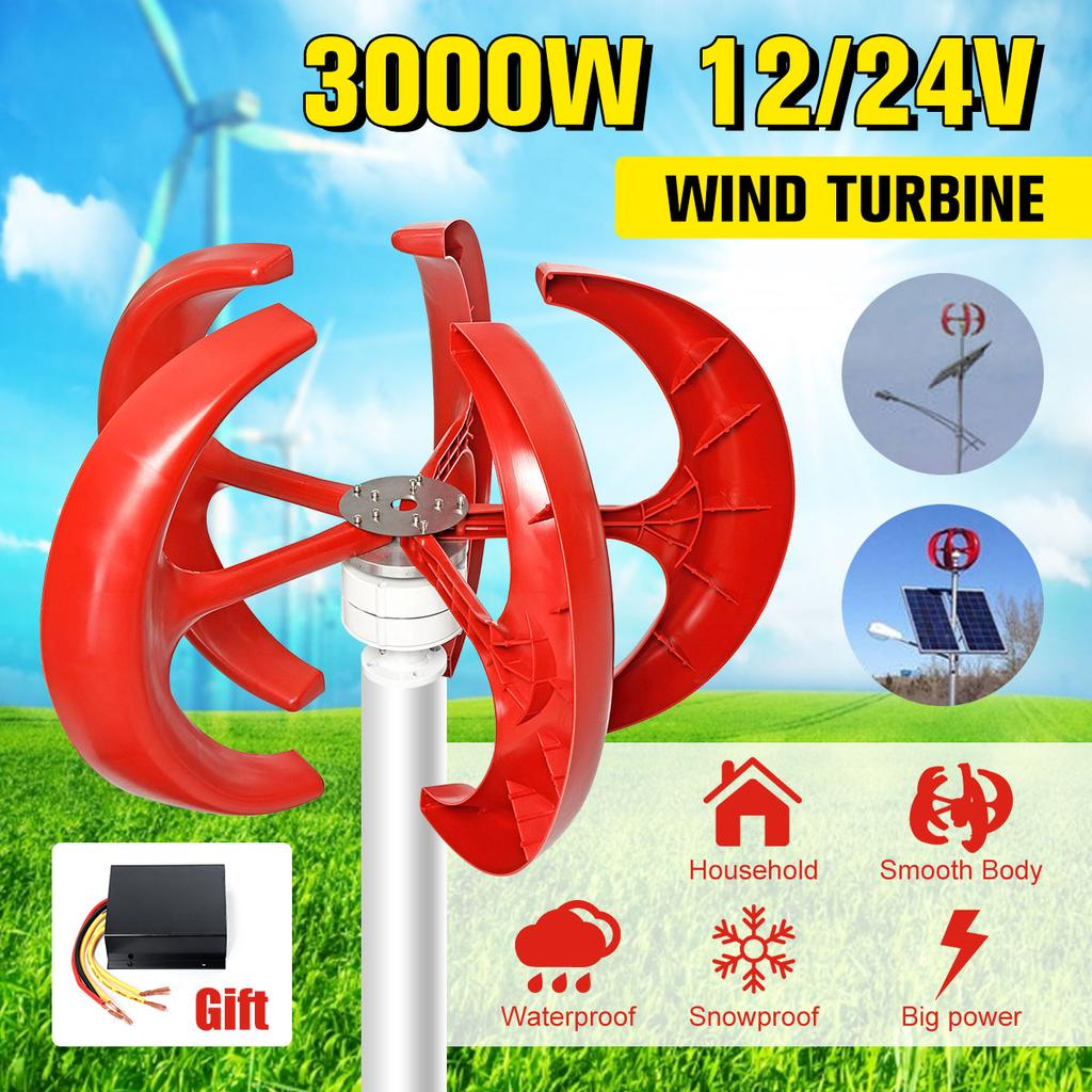 2PCS AC Motor Vertical Micro Wind Hydraulic Turbines Power Generator Alternato