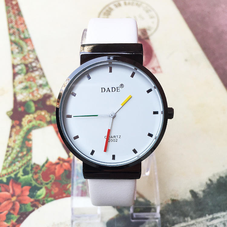 8f87e74208e8 Moda reloj de pareja de color caramelo imitación cristales cuarzo ...