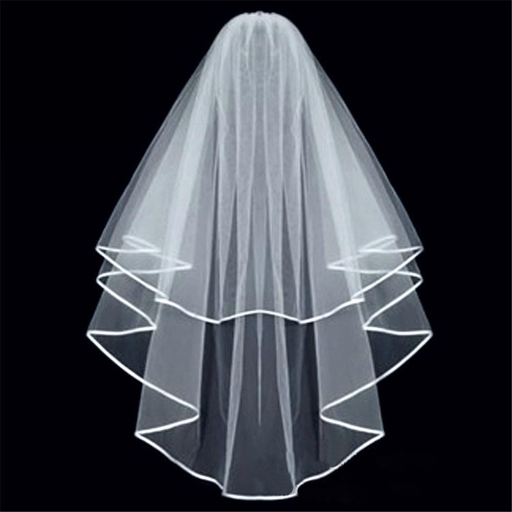 Elegant Short Bridal Veil Two Layer with Comb Veil for Wedding Party ...