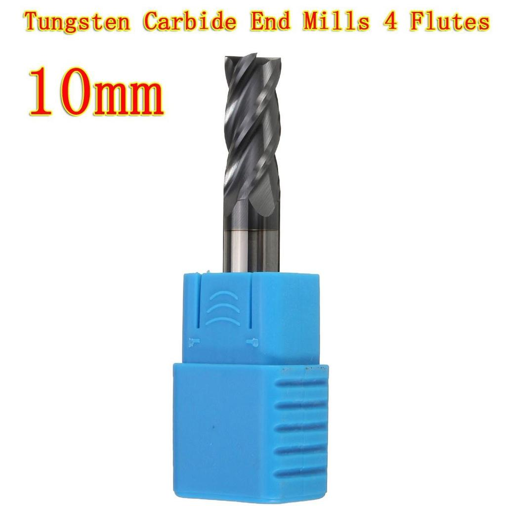 10mm End Mill 4-Flute CNC Milling Cutter Straight Shank Tungsten Carbide Supply