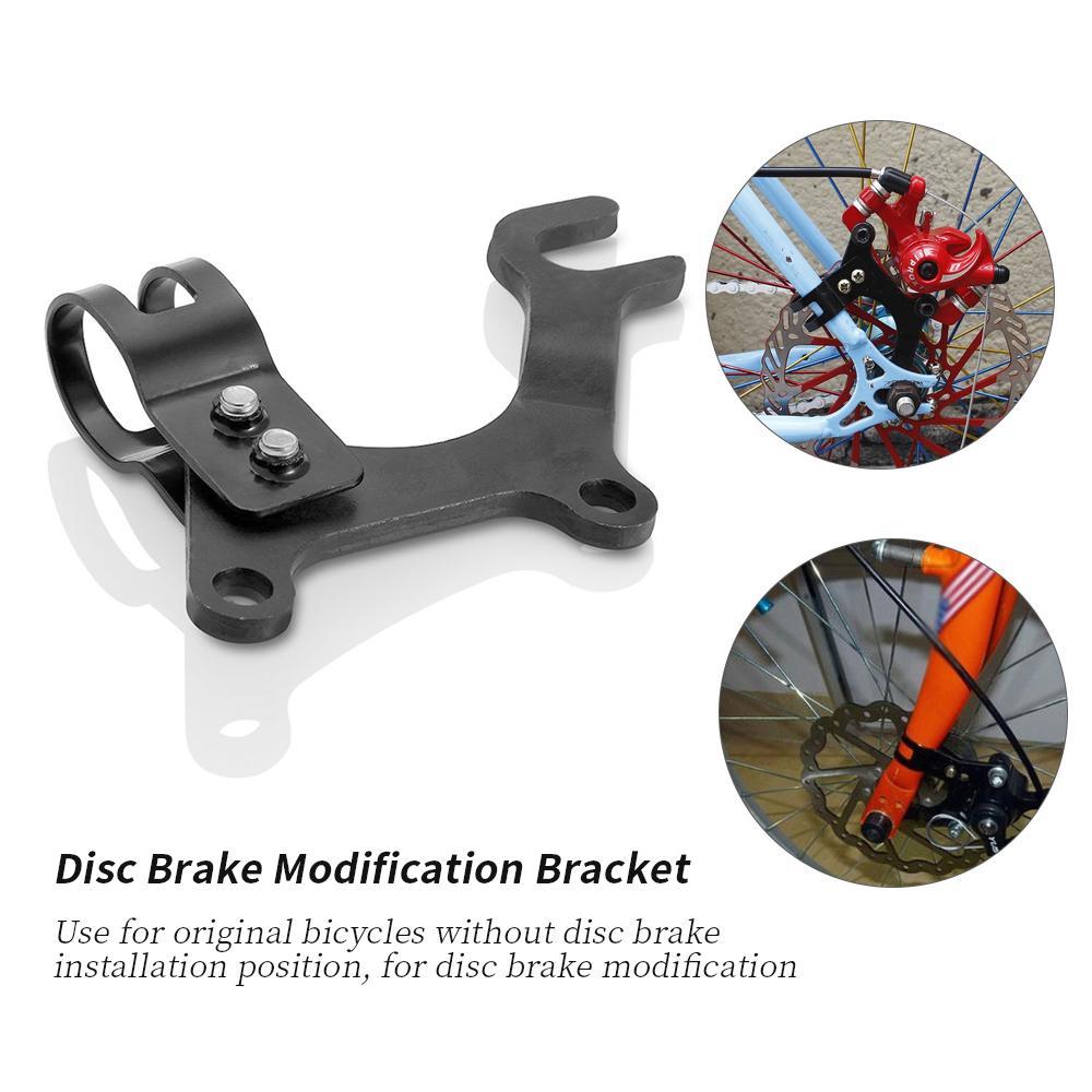 Cycling Disc Brake Modification Bracket Frame Adapter Bike Mounting Holder