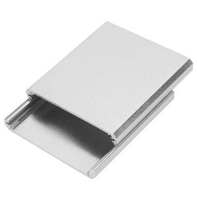 Extruded Aluminum Enclosure Cooling Flat Box Case DIY 140x133x47mm Gold