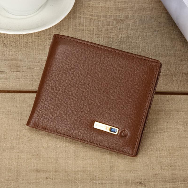 ultima moda cel mai bun serviciu sosește Smart portofel din piele cu alarmă hartă GPS, Bluetooth alarmă bărbaţi  poseta, negru - cumpărați cu prețuri reduse din magazinul online Joom