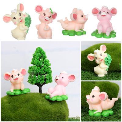 10x Miniature Fairy Garden Micro Landscape Dollhouse Bonsai DIY Decor Bear