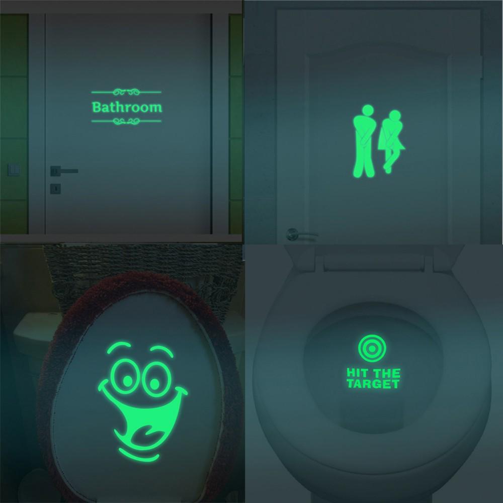 Светящиеся люминесцентные съемные светодиодные настенные наклейки для ванной комнаты – купить по низким ценам в интернет-магазине Joom