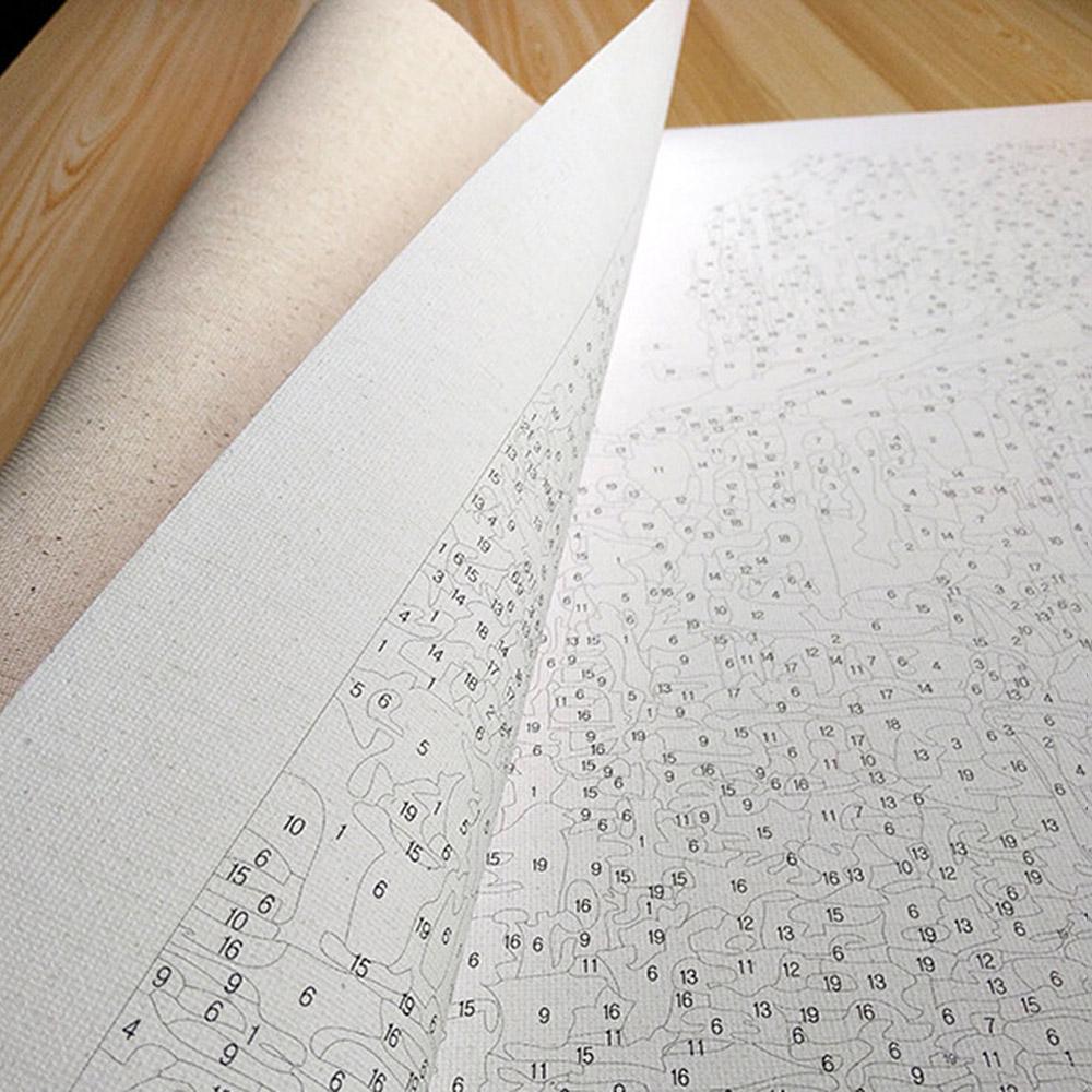 Inneneinrichtungen Leinwand Malen nach Zahlen Kit Digital Ölgemälde ...