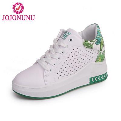 7bc2239c9 Tamanho 35-40 Floral impressão Casual sapatos Trifle tênis Air malha altura  aumentando cunhas calçados