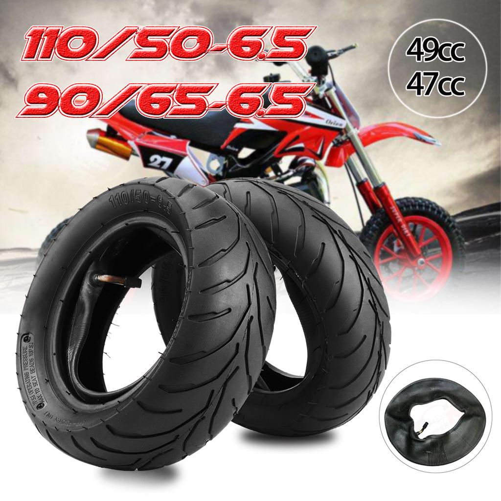 Leobtain Front Rear Tire+Inner Tube 90//65//6.5 110//50//6.5 for 47cc 49cc Mini Pocket Bike