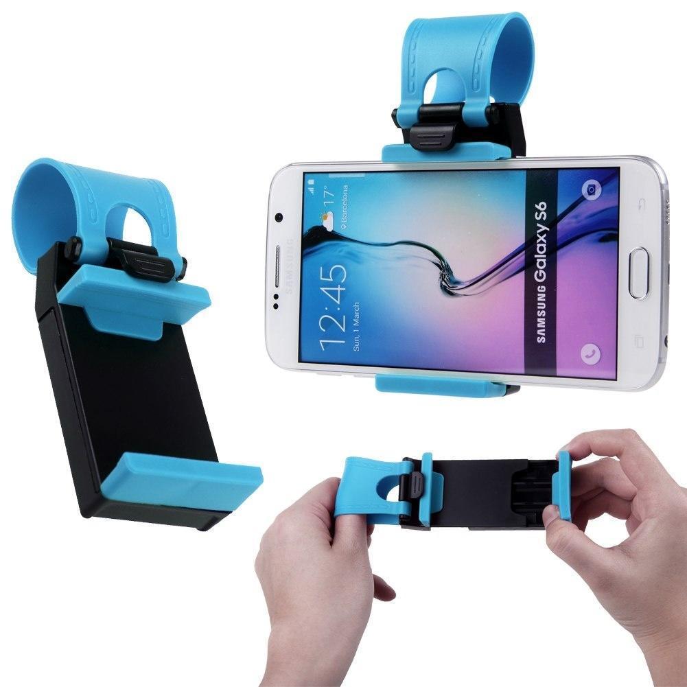 通用汽车方向盘自行车夹式支架iPhone手机的