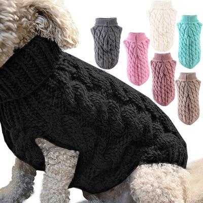 Pet Cloakroom Pet Knitted Sweater Winter Autumn Clothes Soft Coat Dog Apparel
