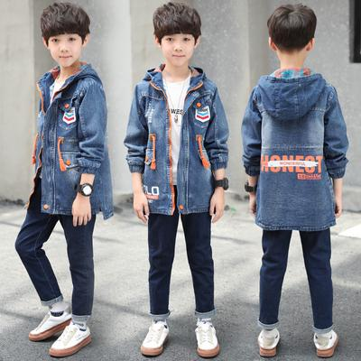 07e04f1e0 Autumn Boy Jackets Coats Denim Baby Kids Jacket Children Coat Jeans ...