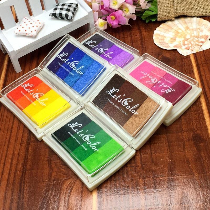 öl basierenden spielzeug fingerabdruck mit farbverläufen bunte inkpad stempel