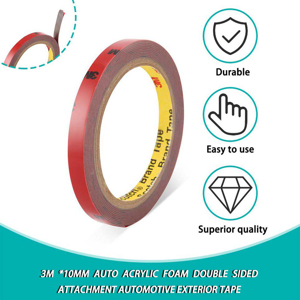 3m *10mm Auto Acrylic Foam Double Sided Attachment automotive exterior Tape ur