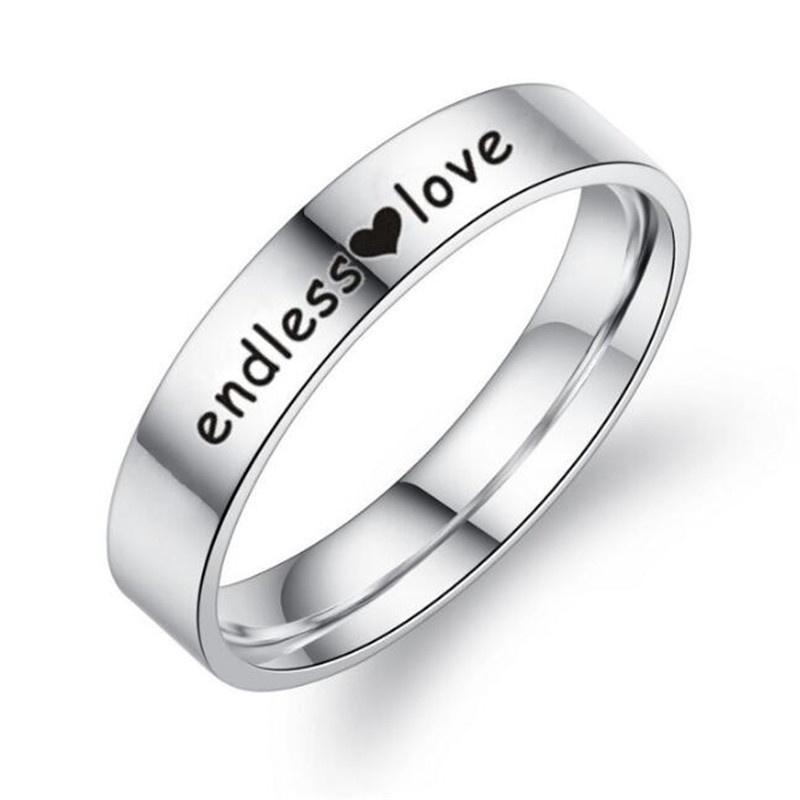 Couple 3.15 Ct Stainless Steel Infinity Wedding Engagement Matching Rings Set