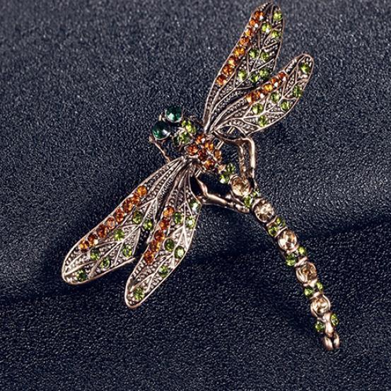 1pc Retro Eule Glänzende  Kristalle Inlay Schmuck Rhinestone Broschen Pin Neu