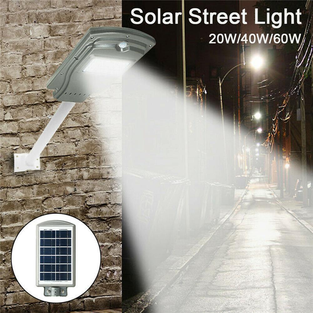 40W//60W Solar Street Light Radar PIR Motion Sensor Lamp Wall Path Outdoor Garden