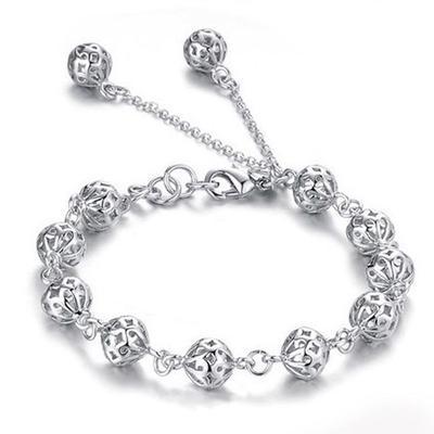 43489fbc1fbb Moda bolas Charms pulsera chicas reborde joyas pulsera - comprar a ...