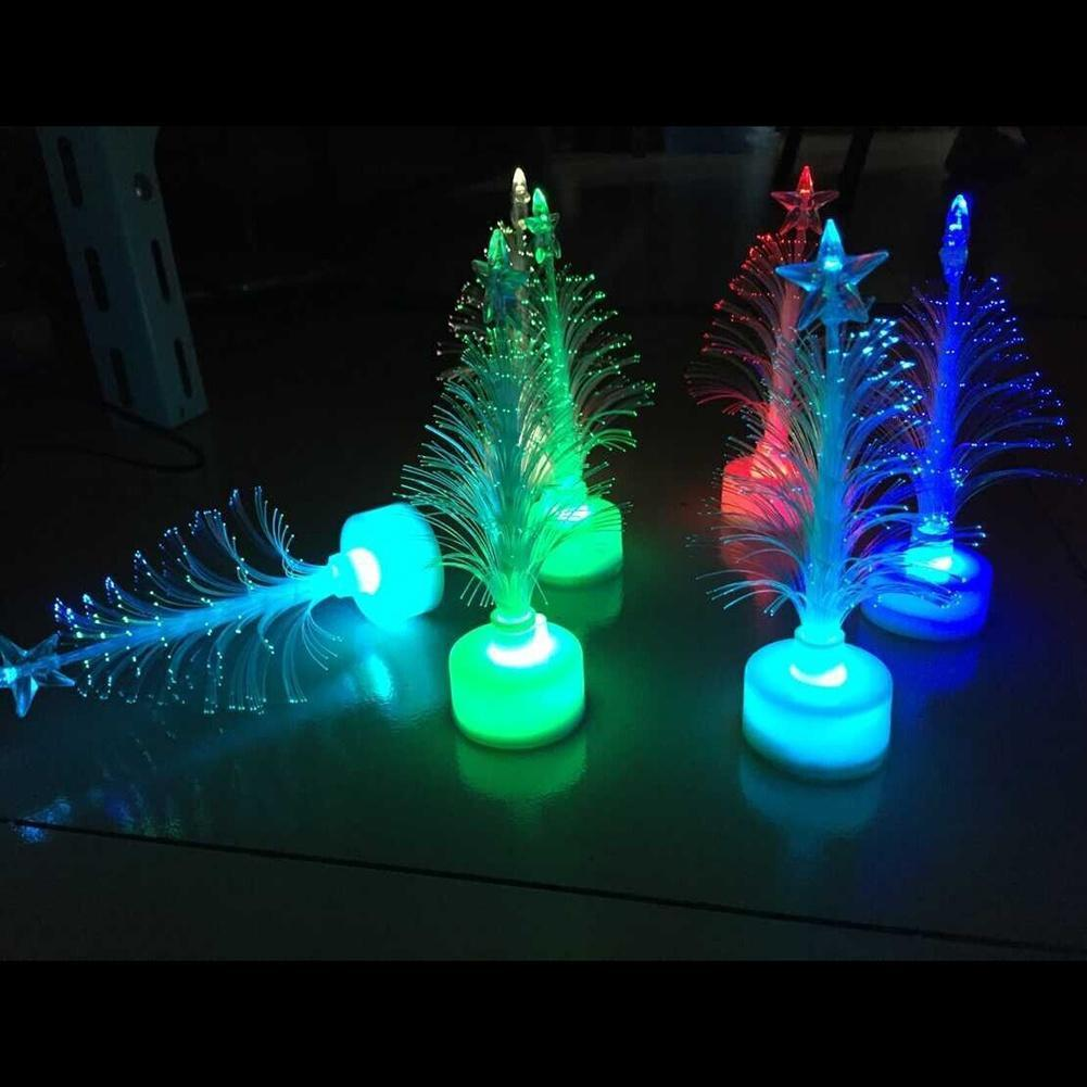 7 Colors Changing LED Christmas Tree Decoration Indoor Night Light ...