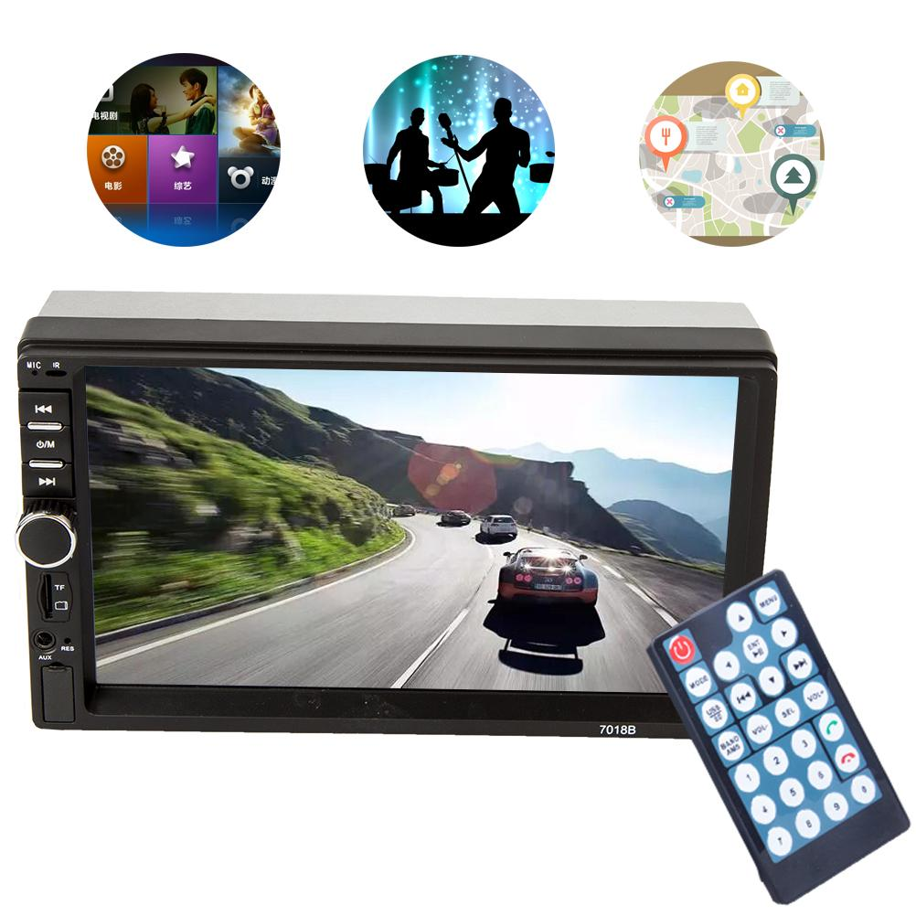 MP5 7018b 7 inch bluetooth audio touch screen car radio audio stereo MP3 aux