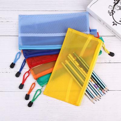 Random Kpop Space A5 Waterproof Document Bag Zipper File Pocket Organizer Storage School Office Pocket Bag Files Folder Office Stationery