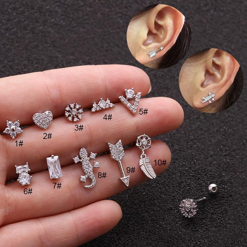 nails earring Mix 60 pieces