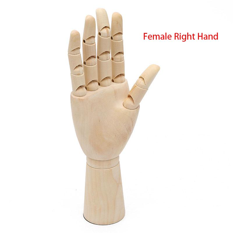 Ideal for Arts Drawing Wooden Hand Model Painting 2 Mannequin Hand Flexible Movable Fingers Manikin Hand Figure Sketching