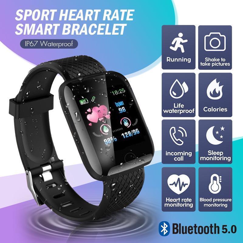 116PLUS 1.3inch TFT Цветной экран водонепроницаемый спорт Смарт-часы для Android IOS смартфонов фото