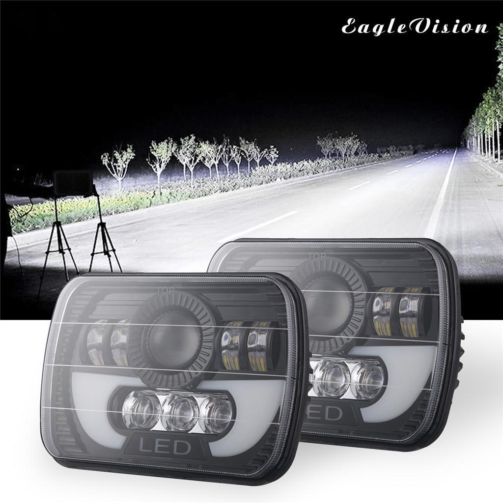 300W 7x6 5X7 Square 7 inch LED Headlight Hi-Lo Beam Lights  Truck ATV Jeep