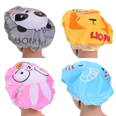 4pcs Cute Cartoon Waterproof Bathing Shower Hair Cap Animal Series