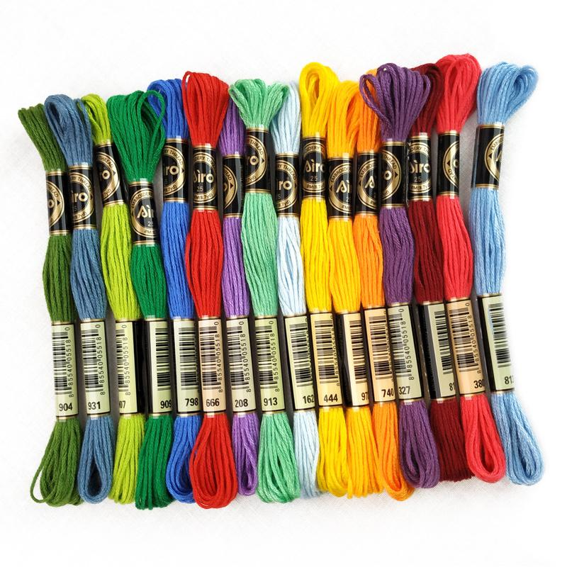 50100 colors embroidery diy set embroidery cotton thread european-style three-dimensional cotton thread cross-stitch various rainbow colour