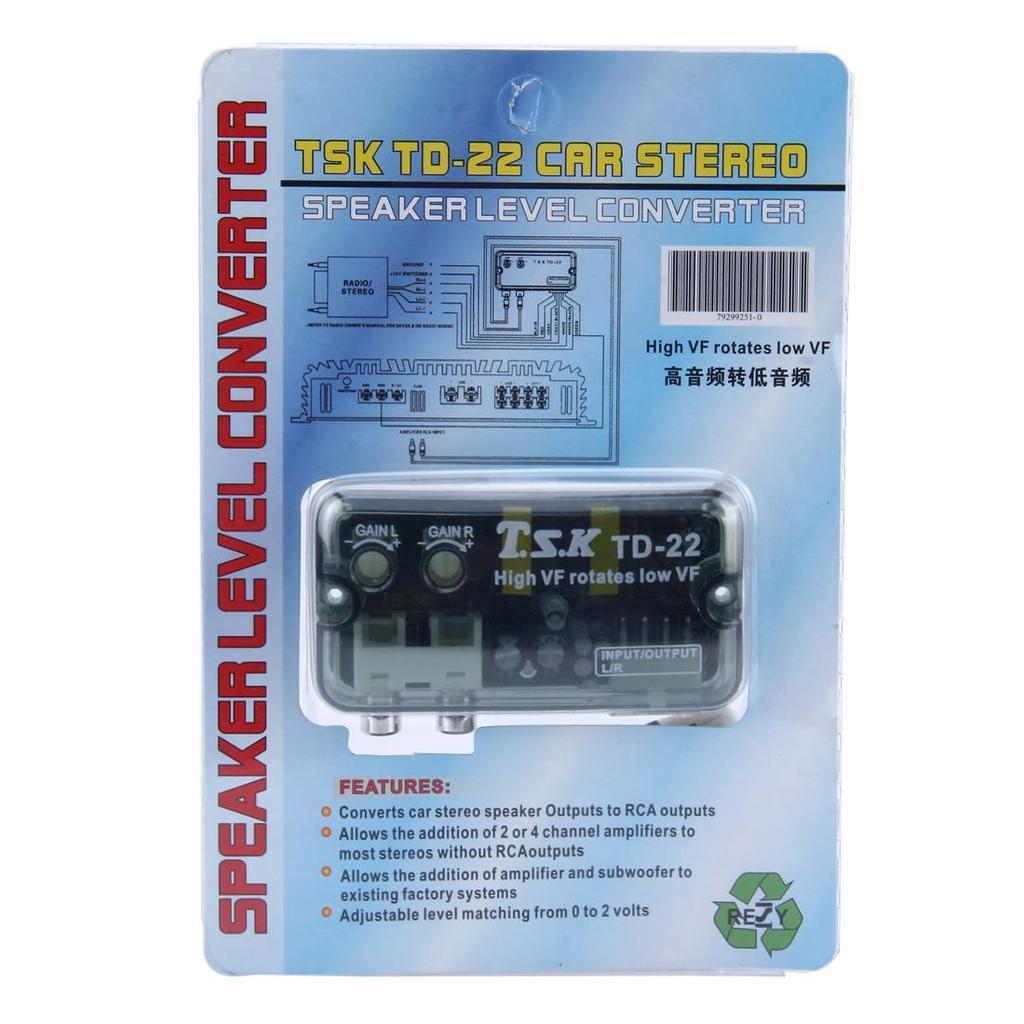 TSK TD-22 Car Stereo Speaker Level Converter, High VF Rotates Low VF ...