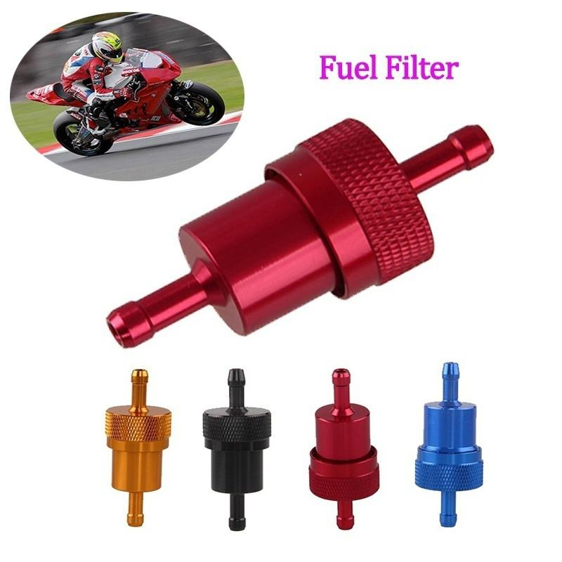 "CNC 1//4/"" Petrol Gas Fuel Filter Cleaner Pit Dirt Bike ATV Aluminum Motorcycle"