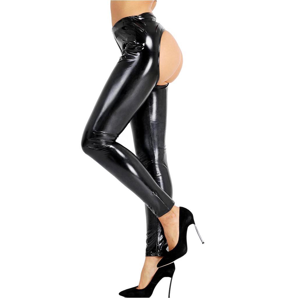 Open Butt Leather Panties Scenes