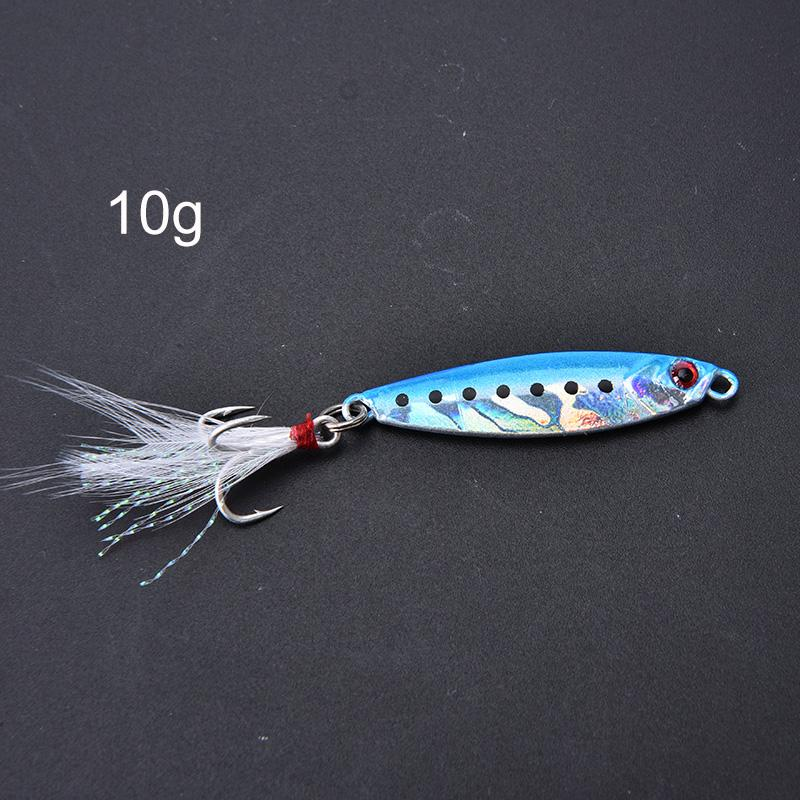 Details about  /1pc metal jig 10g fishing lure artificial bait freshwater jigging fishing lurWNF