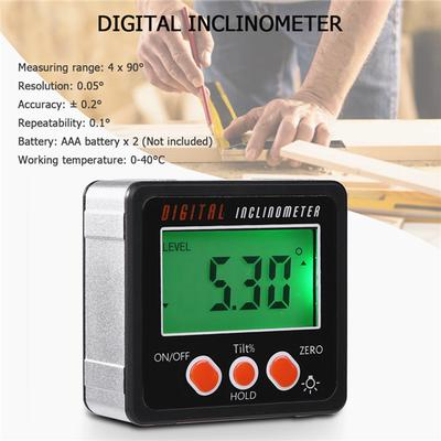 Digital Inclinometer Spirit Level Box Protractor Angle Finder Gauge Bevel Meter