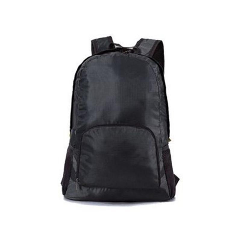Водонепроницаемый складной рюкзак Открытый Пешие прогулки хранения сумка складной рюкзак (черный) купить недорого — выгодные цены, бесплатная доставка, реальные отзывы с фото — Joom