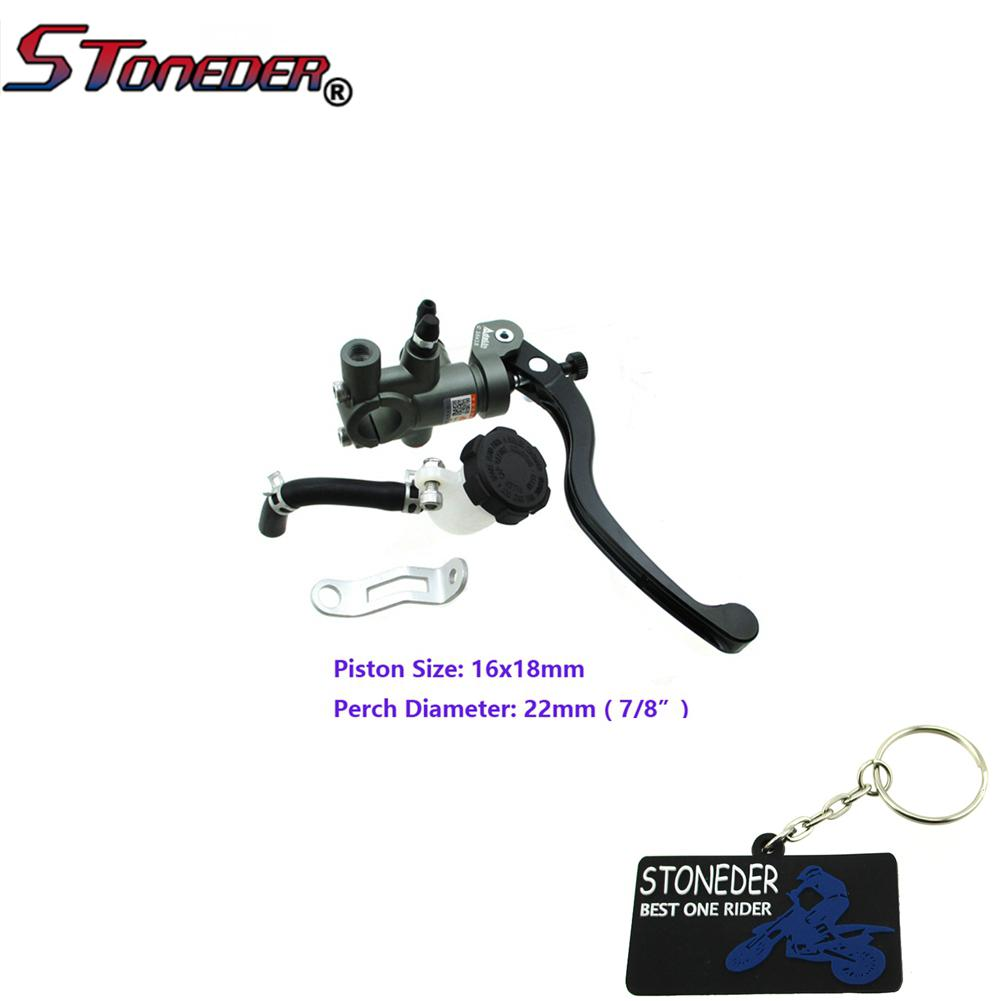Right Adelin Brake Master Cylinder Hydraulic 16x18mm Piston For Motorcycle