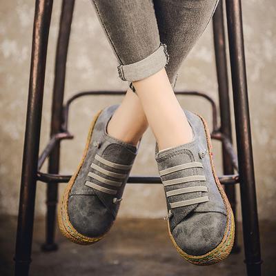 venta de descuento venta caliente proveedor oficial Mujeres señoras suave plana solo zapatos mujer gamuza cuero cordones botines