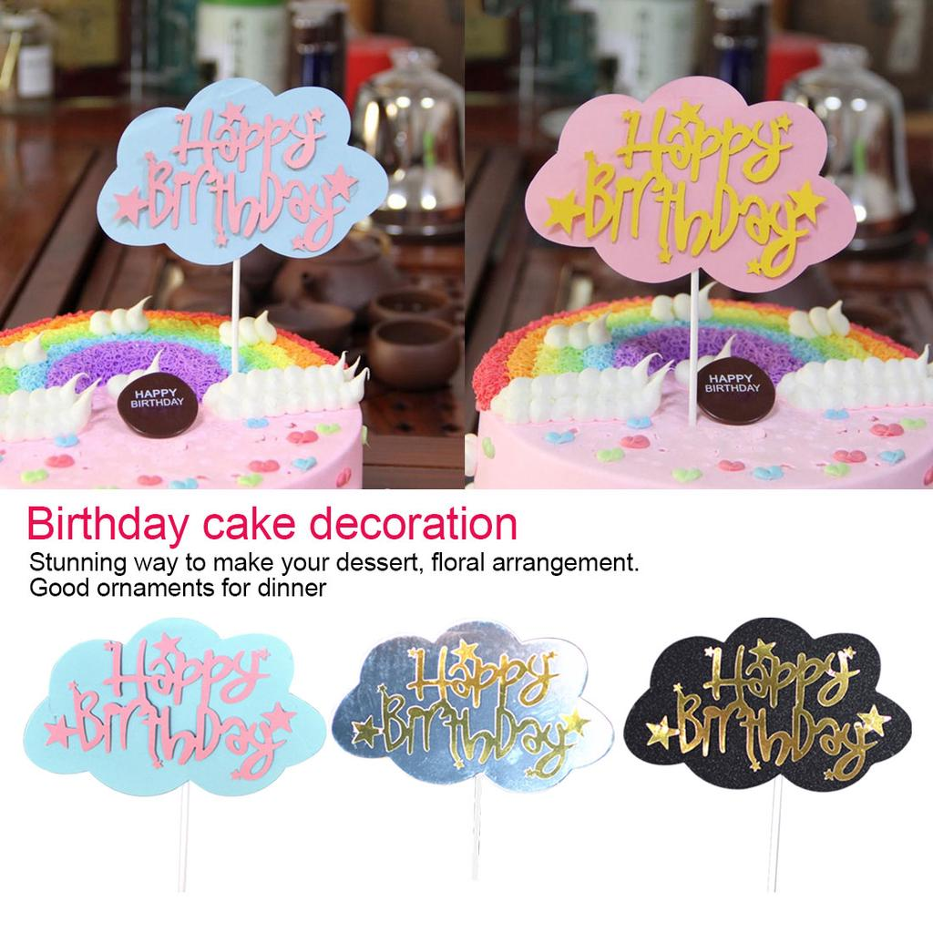 Wondrous Cake Topperhappy Birthday Cake Topper For Party Dessert Gifts Birthday Cards Printable Opercafe Filternl