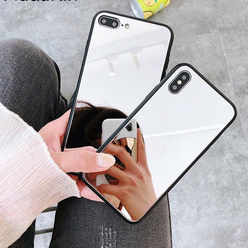 Зеркало Телефон Случаи для Xiaomi Redmi Примечание 8 Xiaomi Mi A2 Lite Redmi 7A Mi 9T Дело охватывает мягкий ПК Силикон