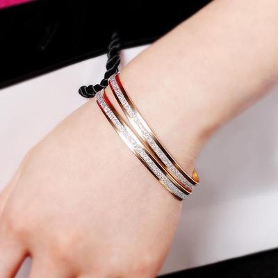 Élégant Femme ouverture Scrub Cuff Bracelets Bangle Double Couche Bracelet Bijoux