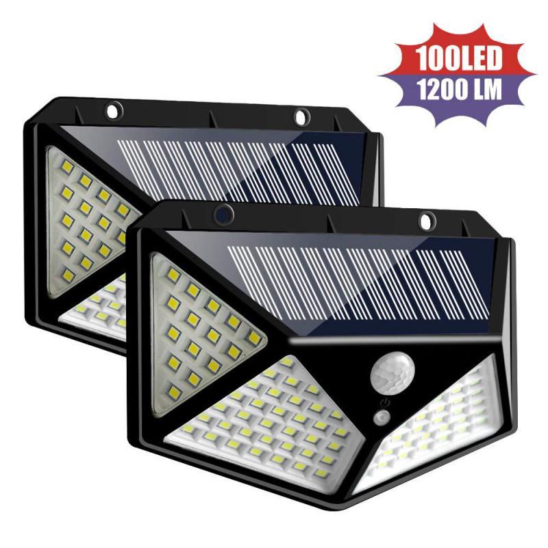 2Pcs Outdoor 36 LED Solar Power PIR Motion Sensor Wall Street Light Garden Lamp