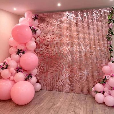 2m Home Decor Curtain Waterproof Length Square Sequin Wedding Wall Background Birthday Party Decor