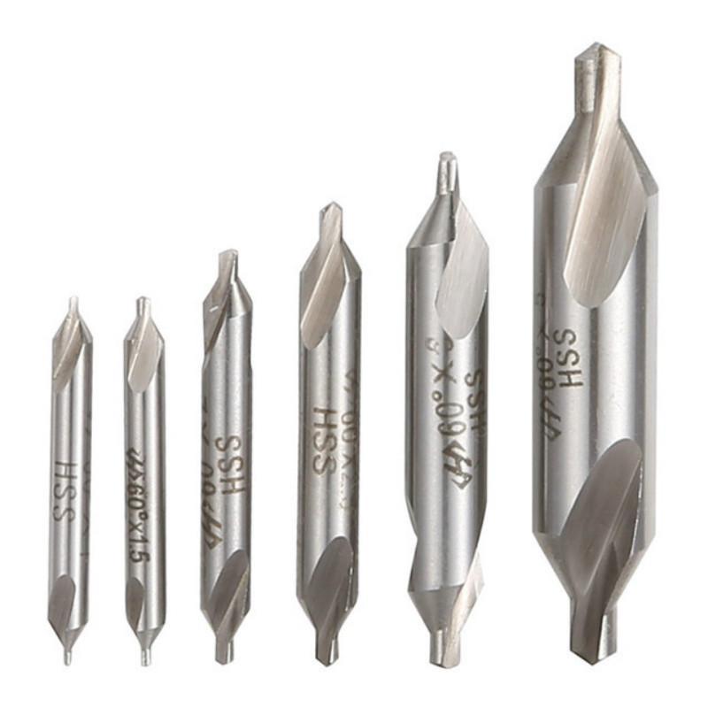 HSS 3mm Tip 60 Degree Angle Countersinks Center Drills Bit Tool 10 Pcs