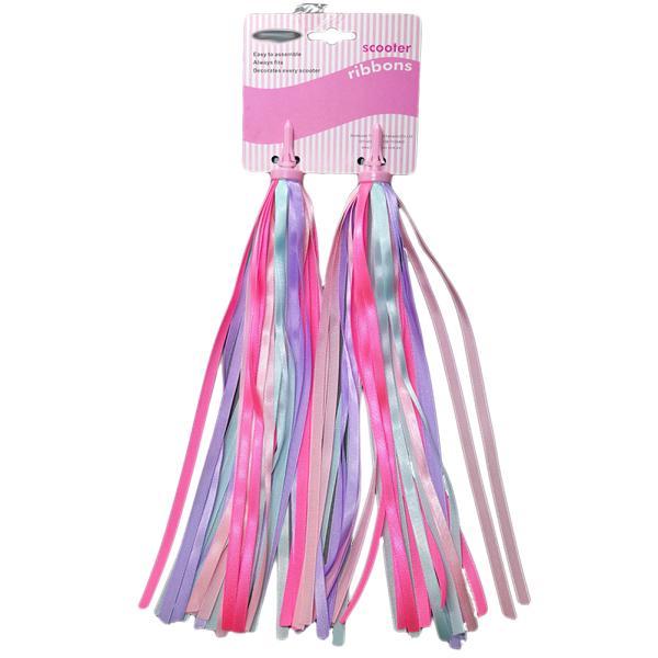 Kids Bicycle Bike Handlebar Streamers Sparkle Tassel Ribbon Decor Mix Color 2PCS