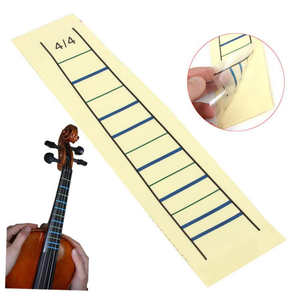 Guitar furniture 4/4 phone mate syllable labels violin fingerboard sticker  beginners note scales